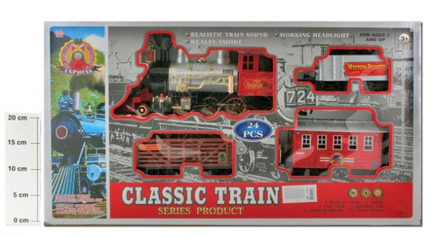 фото Ж/Д в наборе 24 шт. BOX 71х40х13 см. Классический поезд, арт. 3.