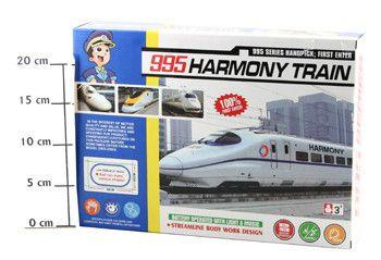 фото Ж/д Экспресс в наборе (свет, звук)ВОХ 34*24*7см, Harmony Train , 9957