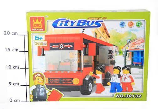 фото Констр. Пласт разобр Автобус красный BOX 33, 7*26*6 см. 318 дет арт 30132