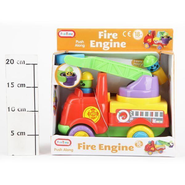 фото Игрушка пласт. BOX 25, 5*20, 5*12 см Пожарная машина, арт. 5054