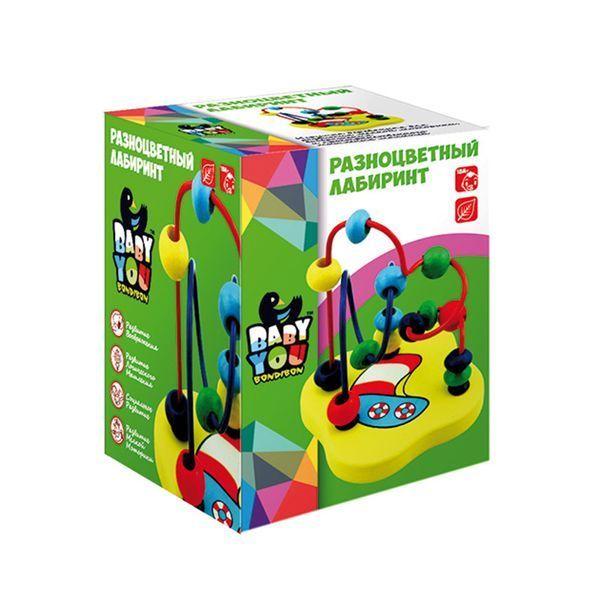 фото Игр. дерев. , Разноцветный лабиринт, Bondibon, BOX 7, 5х7, 5х10, 5 см. , арт. TKB007