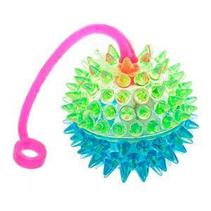 фото Мячик с верёвочкой, микс цветов, D-6см, 24 шт