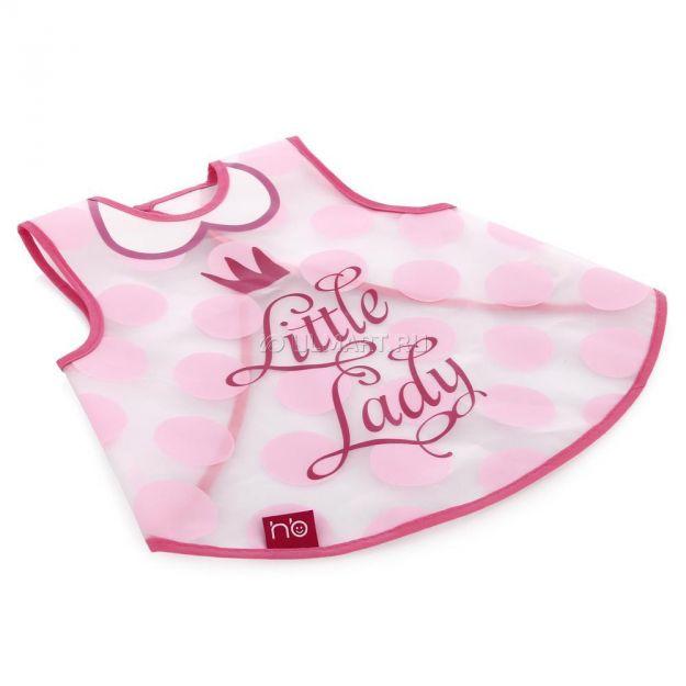 фото Нагрудник-жилетка Happy Baby Little lady, на липучке, из ПВХ-пленки (16004)