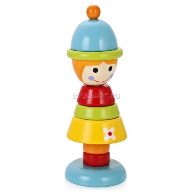 фото Игрушка деревянная Папа Карло Пирамидка Девочка  (6578R)