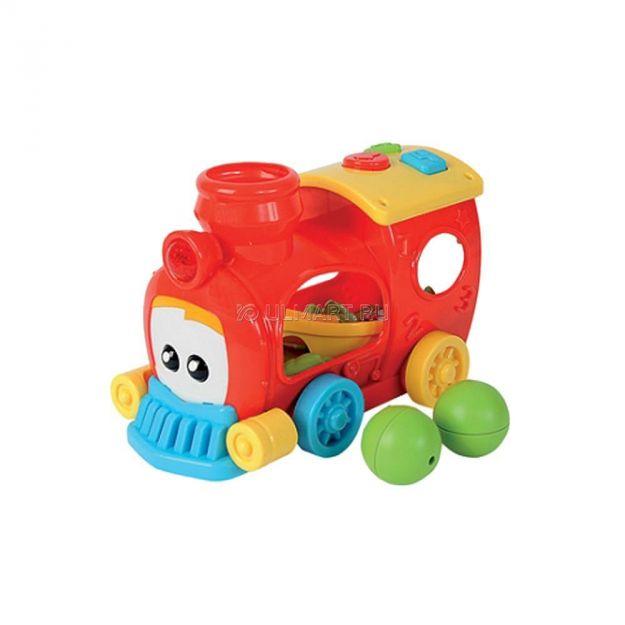 фото Развивающая игрушка Simba Веселый паровозик с треком и шариками,со светом и звуком  (4012778)