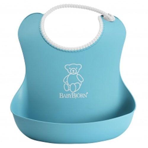 фото BabyBjorn Нагрудник мягкий пластиковый для кормления ребенка [ art. 0462 ], 13 / бирюзовый