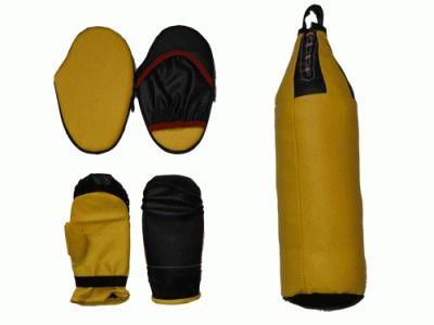 фото Набор бокс детский (груша шлемовидная +перчатки+2лапы)