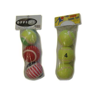 фото Мяч для б/т (3шт. в пакете) цвет жёлтый