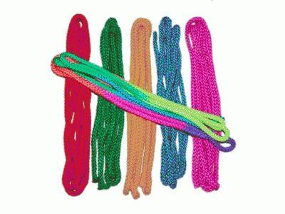 фото Скакалка гимнастическая, цветная ткань. АВ251