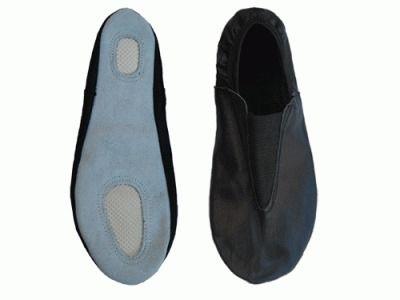 фото Чешки гимнастические кожаные, цвет чёрный, р-р 34