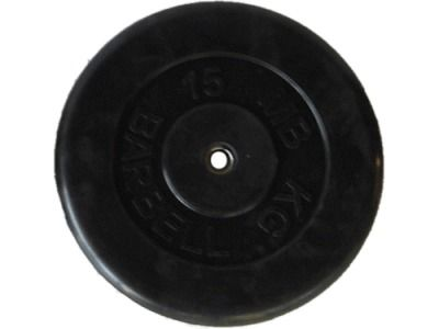 фото Диск SLS GYM обрез. чер. D-26mm. 15 кг.