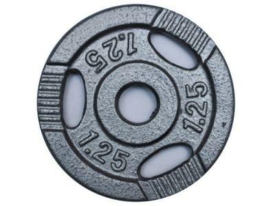 фото Диск для штанги металл, порошковая окраска. D-26 мм. Вес 1,25 кг К3-1,25 кг