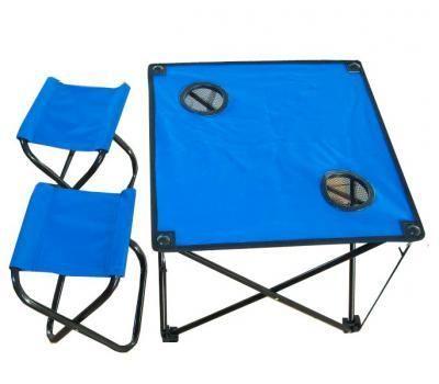 фото Стол складной с двумя табуретами IRG-521