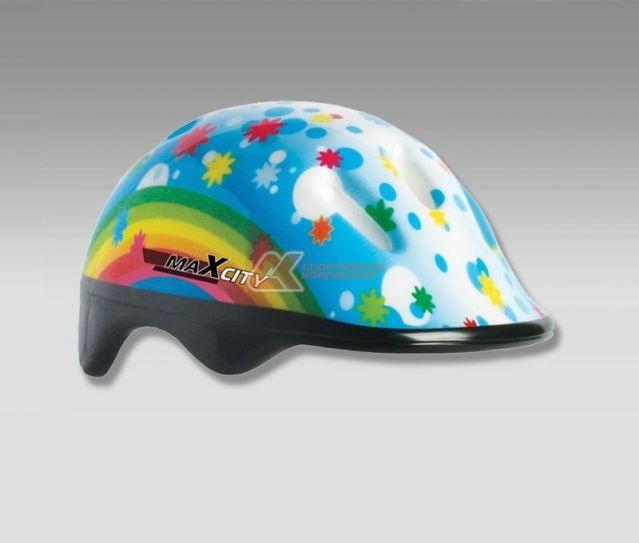 фото Ролик. шлем MaxCity BABY RAINBOW р.S (уп=24шт)