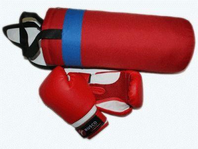 фото Набор бокс. детс. RUSCOsport к/з красный К