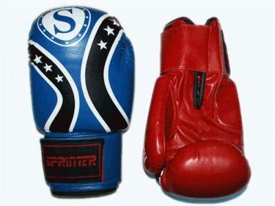 фото Перчатки бокс SPRINTER FIGHT STAR . Цвет: синий и красный. размер-вес 6