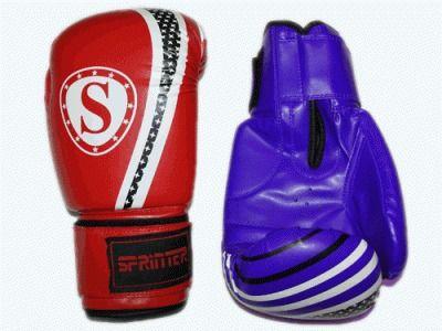 фото Перчатки бокс SPRINTER PUNCH-STAR. Цвет: синий и красный. размер-вес 6