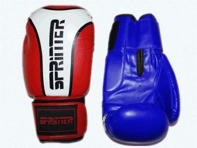 фото Перчатки бокс SPRINTER RING-STAR. Цвет: синий и красный. размер-вес 12