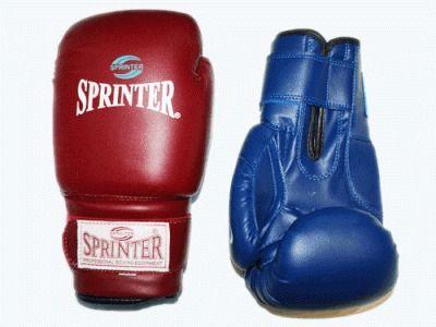 фото Перчатки бокс SPRINTER CLUB. Цвет: синий и красный. размер-вес 14