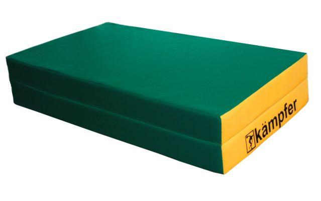 фото Kampfer Мат №4 (100 х 100 х 10) складной - винилискожа [зеленый/желтый]