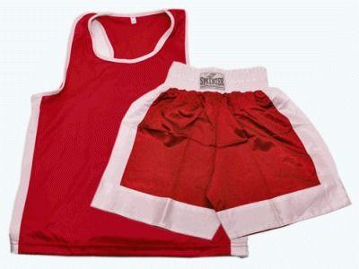 фото Форма бокс.( майка+шорты) красная, р.XL красная, р.XL