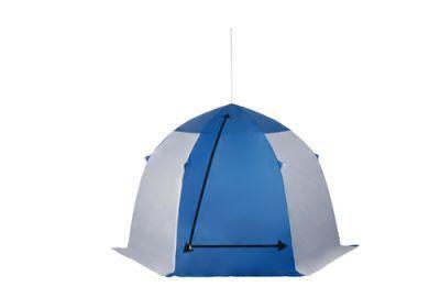 фото Палатка рыбака Пингвин 2 [белый/синий]