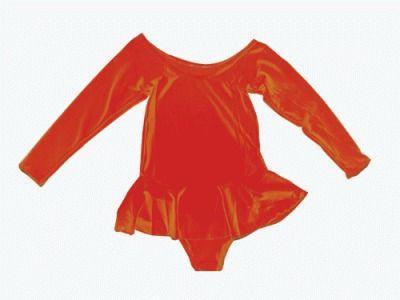фото Купальник гимнастический с юбкой. Состав: полиэстер. Размер L. Цвет красный. 2012