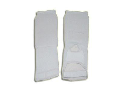 фото Защита ноги (для единоборств, от колена до пальцев, хлопок с эластиком , поролон , цвет белый). Размер S 748-3-S