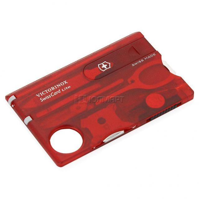фото Набор универсальный VICTORINOX SwissCard Lite 0.7300.t, красный
