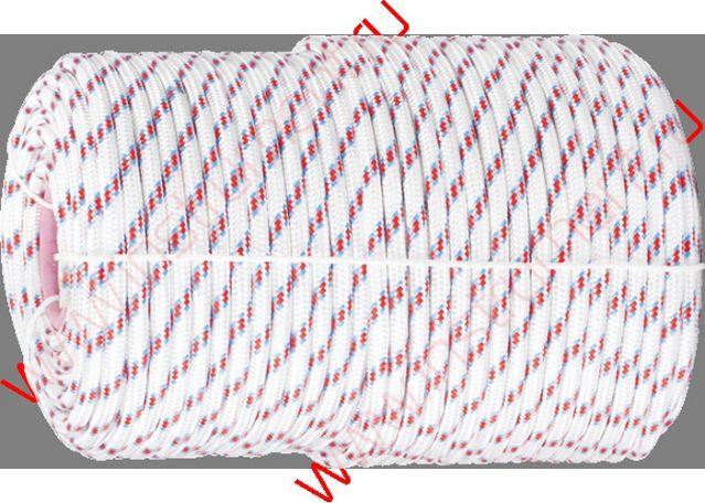 фото Фал плетёный полипр. 24-прядный с полипр. серд. 10 мм, бухта 100 м, 700 кгс