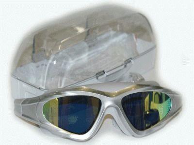 фото Очки-маска для плавания, ремешок на застёжке. Материал оправы - силикон. В комплете 1 пара беруш, жёсткий футляр. YYK1620