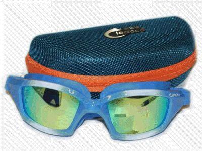 фото Очки-маска для плавания. Материал оправы - силикон. В комплете 1 пара беруш, жёсткий футляр. MC1530