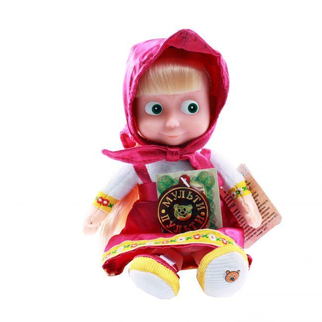 фото Маша и Медведь. Мягкая игрушка с пластиковым лицом и звуком Маша, 22 см (V85833/20)