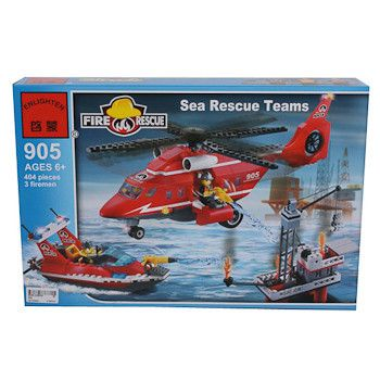 фото Конструктор пласт. Fire Rescue, 404 дет, 41*28*6, 5см, BOX, ENLIGHTEN арт. 905