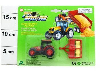 фото Мет. маш. Pioneer Toys Трактор с прицепом CRD PT402