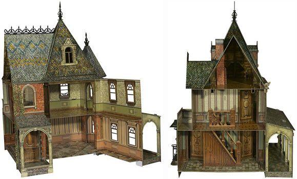 фото Игровой набор из картона . Кукольный дом (DOLL HOUSE) 283
