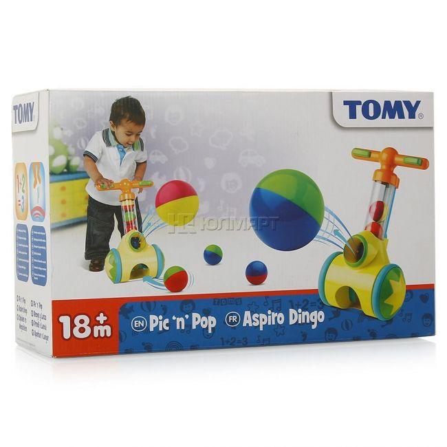 фото Развивающая игрушка Tomy каталка-стрелялка Толкай-Запускай-Собирай (ТО71161)
