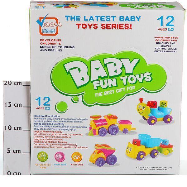 фото Набор пласт. игрушек на колес. , 6 шт. , BOX 32х36, 5х12, 5 см. , арт. 0889-6K