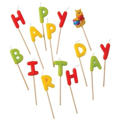 фото Свечи-буквы 'Винни Happy Birthday'