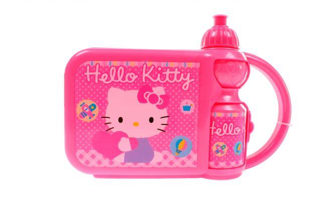 фото Hello Kitty. Контейнер для бутербродов с бутылкой (121602)