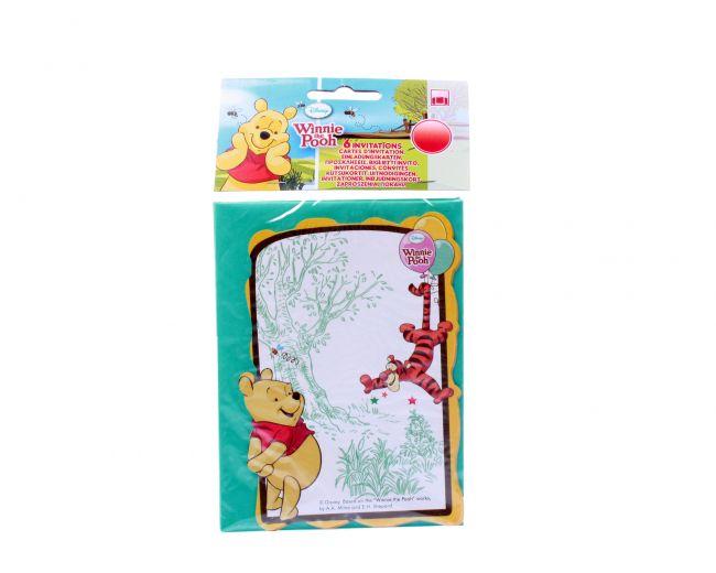 фото Winnie the Pooh. Приглашения в конвертах (6 шт) (81552)