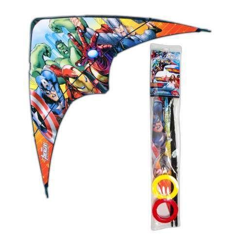 фото Marvel Avengers воздушный змей усложн.каркас мат.ткань 115x58см, 2 вида в ассорт.пакет с хед