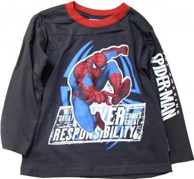 фото Футболка с длинным рукавом Человек-паук (Spider man1726) черная