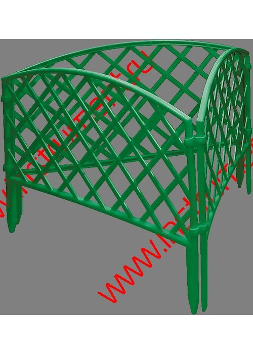 забор декоративный 6 плетенка зеленая