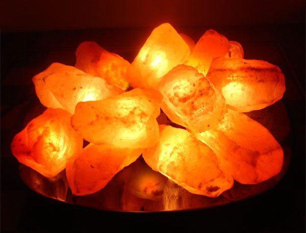 «Огненная ЧАША» Солевая лампа - из 15 камней на блюде SLL-12055-15 Wonder Life