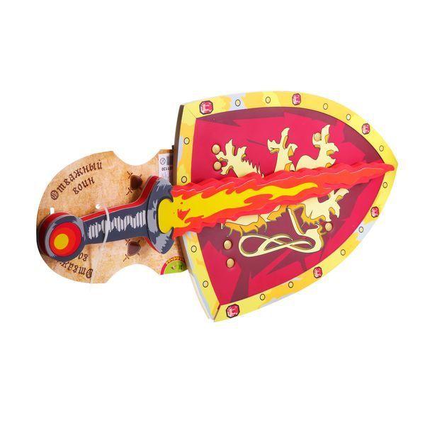 Набор оружия мягк. , BONDIBON, щит и меч, ОТВАЖНЫЙ ВОИН, CDR 25х12х15, 5 см. , арт. 8009SZ+8001LH