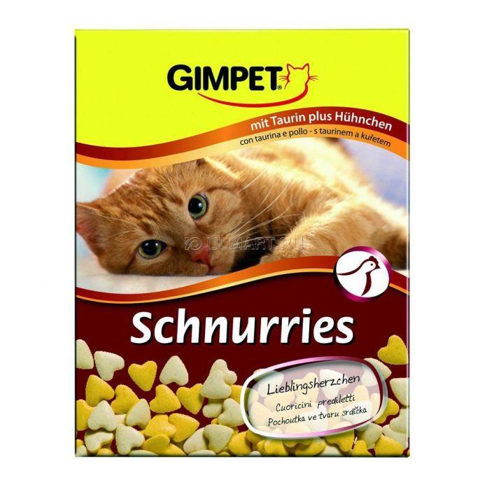 Лакомство витаминизированное Gimpet Сердечки с курицей для кошек, 650 шт 420 г (4002064409351)