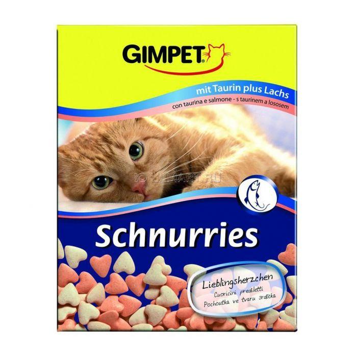 Лакомство витаминизированное Gimpet Сердечки с лососем для кошек, 650 шт 420 г (4002064409382)