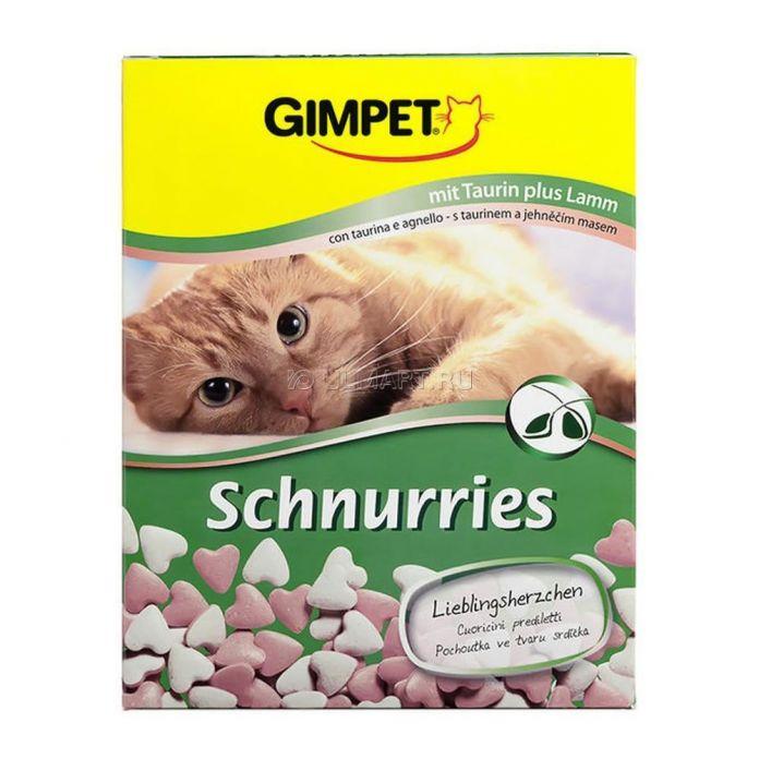 Лакомство витаминизированное Gimpet Сердечки с ягненком для кошек 650 шт 420 г (4002064406886)