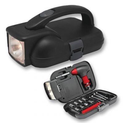 Набор инструментов в кейсе с фонарем IRIT IR-104H (уп-ка 24шт)